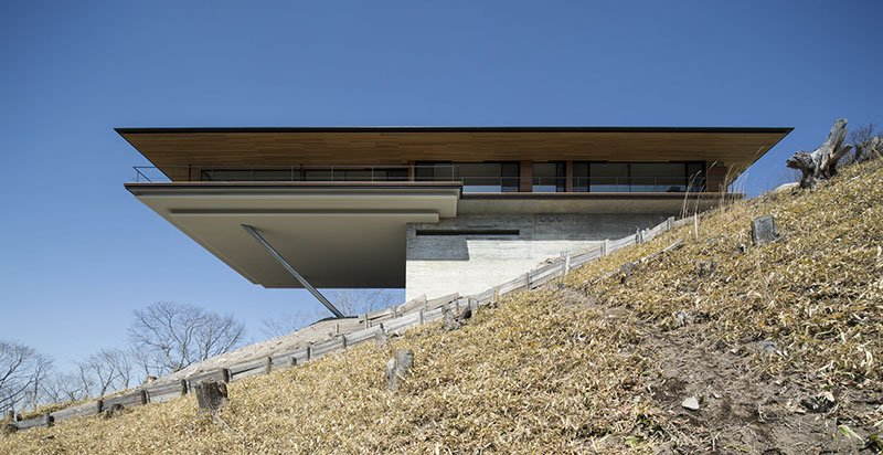 modern japanese house by Kidosaki Architects - House in Yatsugatake - exterior