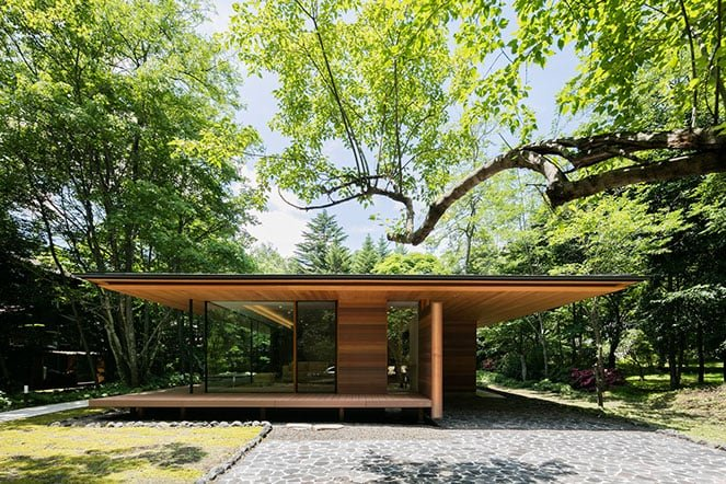 japanese modernist house - Kidosaki Architects - Yokouchi Residence - front