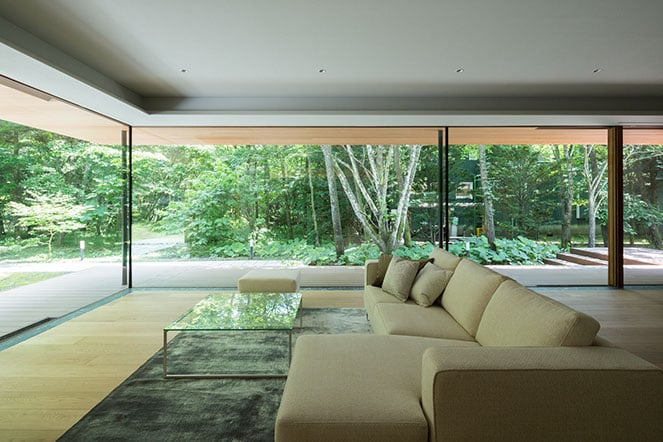 japanese modernist house - Kidosaki Architects - Yokouchi Residence - living