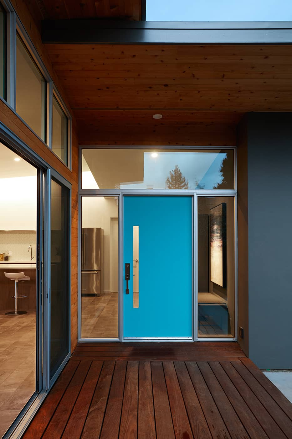 Eichler house San Carlos California_Klopf architect - entrance