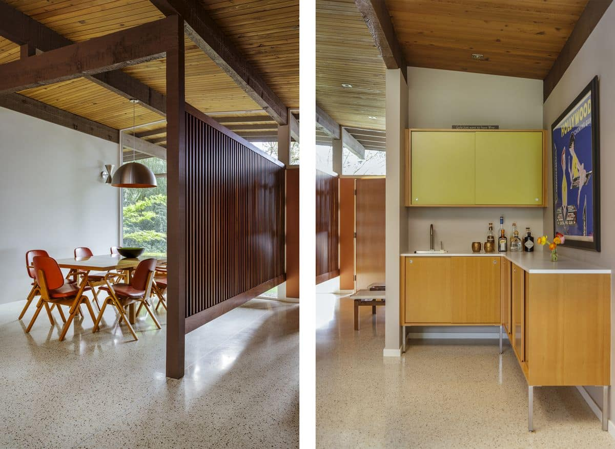 Eichler inspired Mid-Century House in Portland - dining area