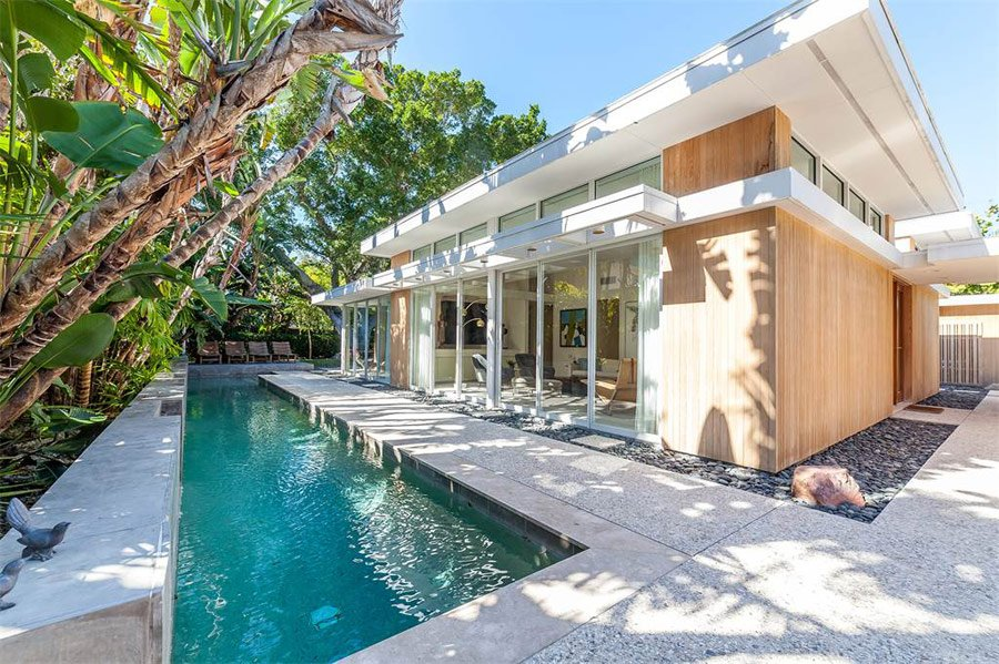 mid-century sarasota style house - Seibert Architects - pool