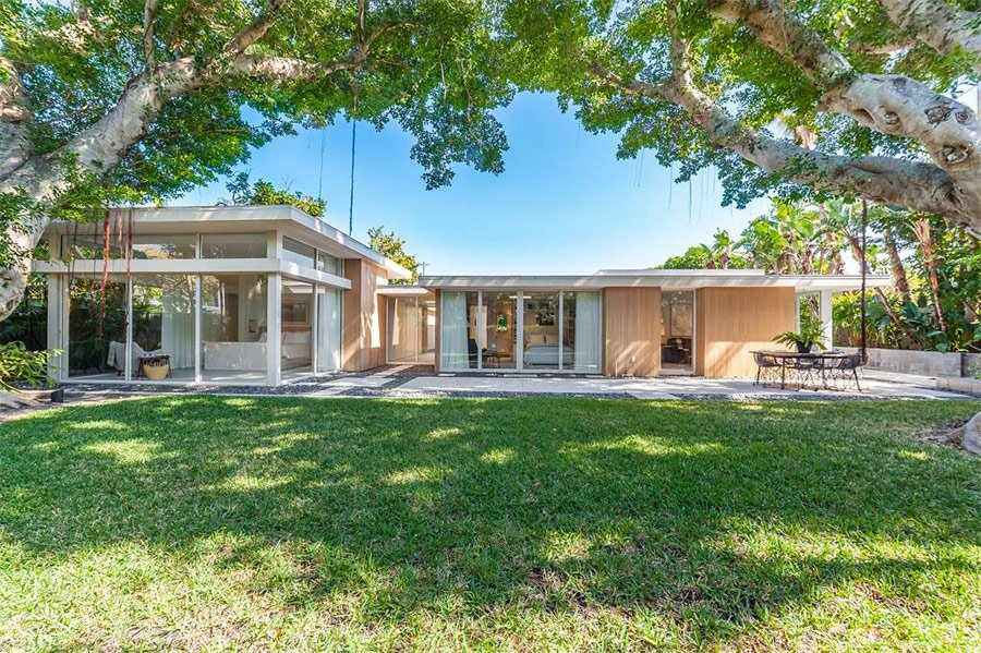 mid-century sarasota style house - Seibert Architects - back