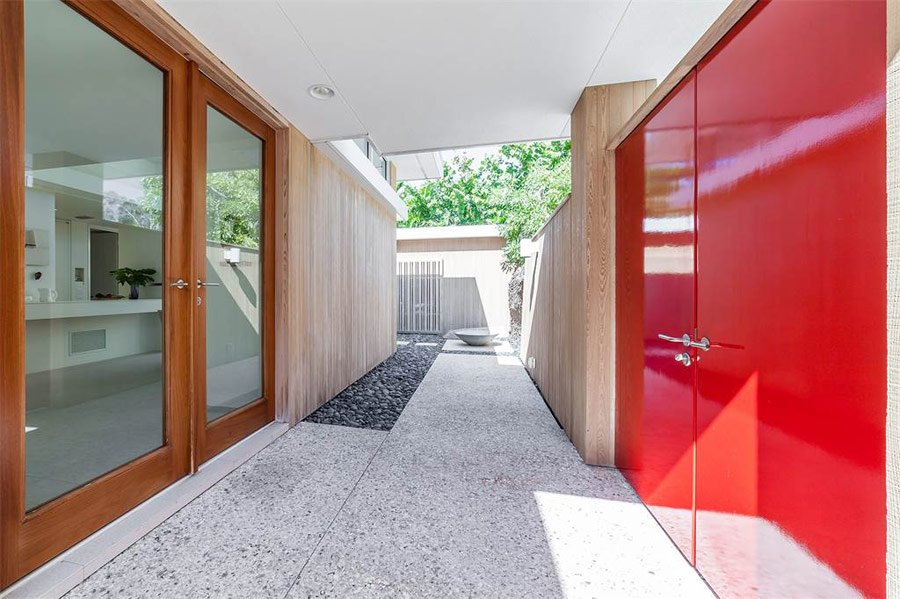 mid-century sarasota style house - Seibert Architects - entrance