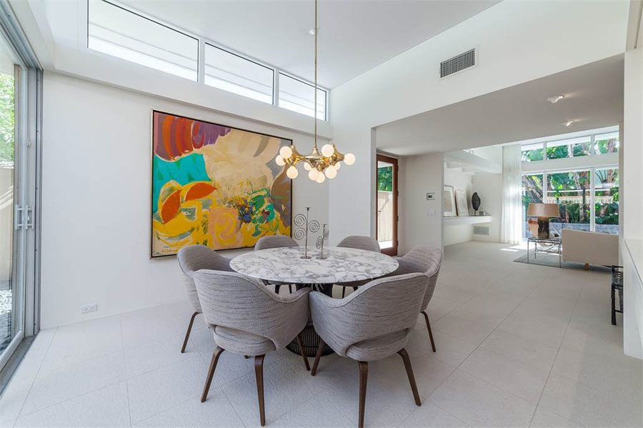 mid-century sarasota style house - Seibert Architects - dining area