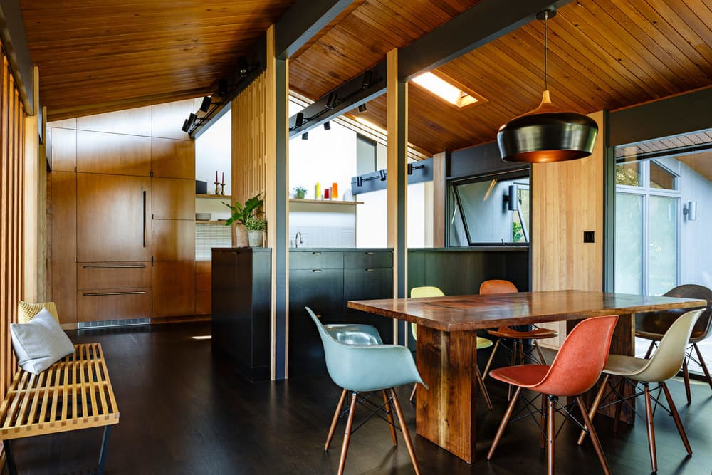 mid-century modern house renovation - jessica helgerson - dining area