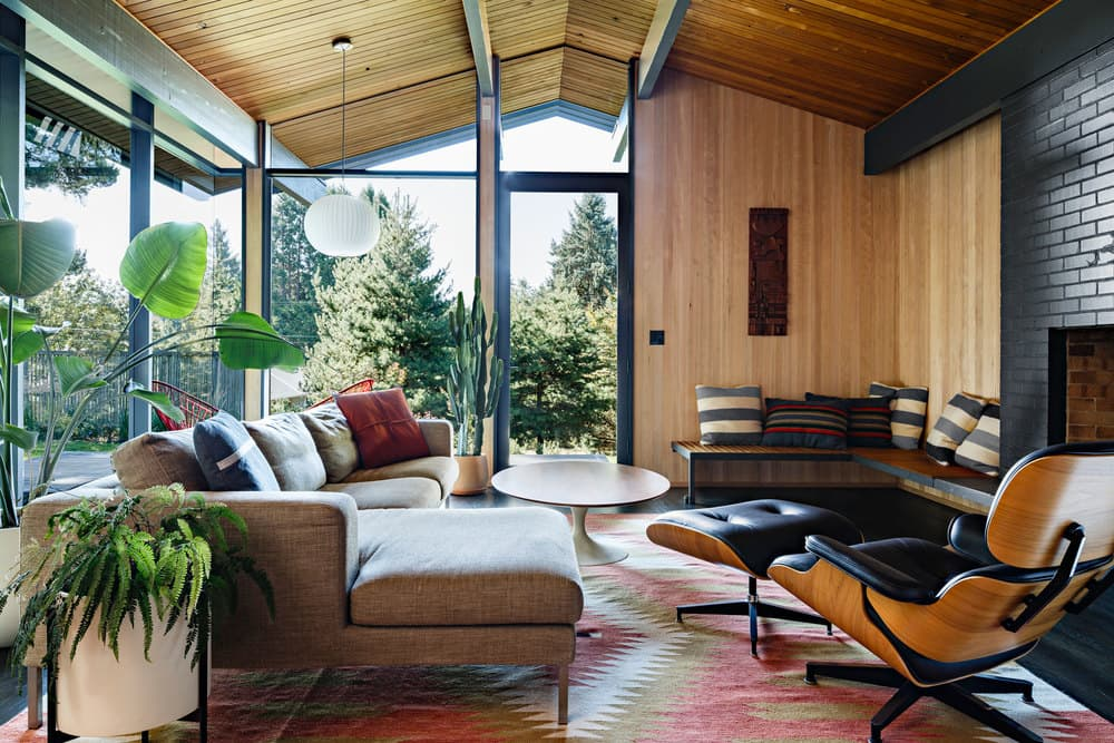mid-century modern house renovation - jessica helgerson - living