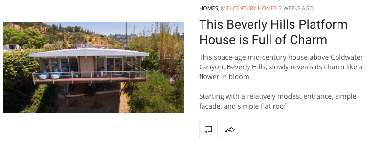 mid-century house for sale beverly hills