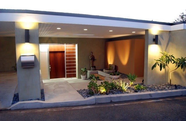 William Beckett - mid-century Platform House Beverly Hills - entrance