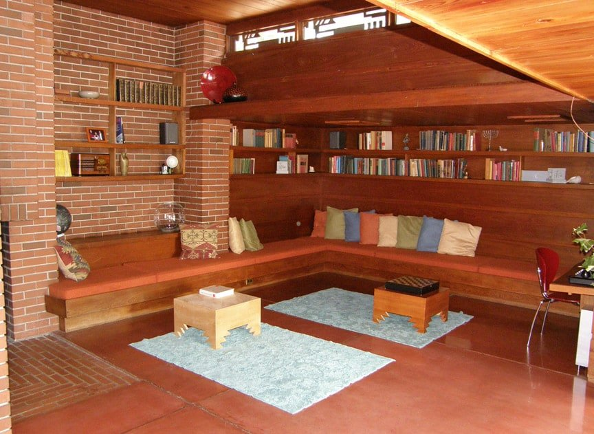 frank lloyd wright - schwartz house - interior