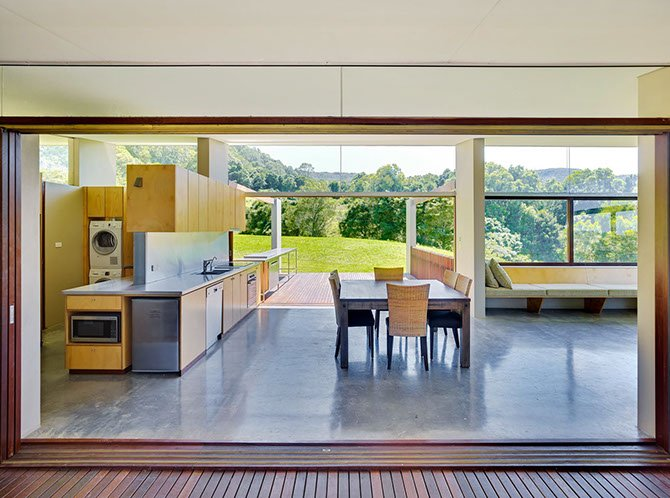 contemporary house by Fergus Scott Architects kitchen