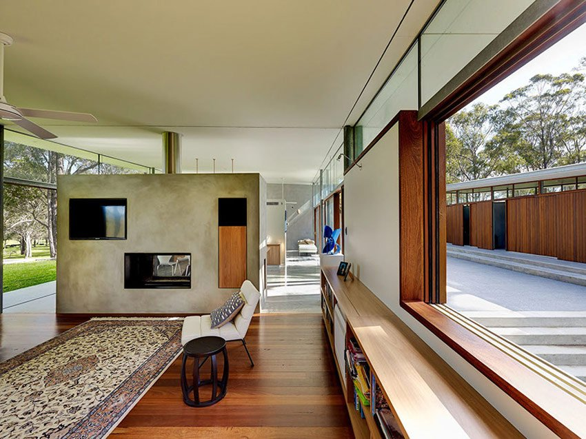 Contemporary House Fergus Scott Architects - living