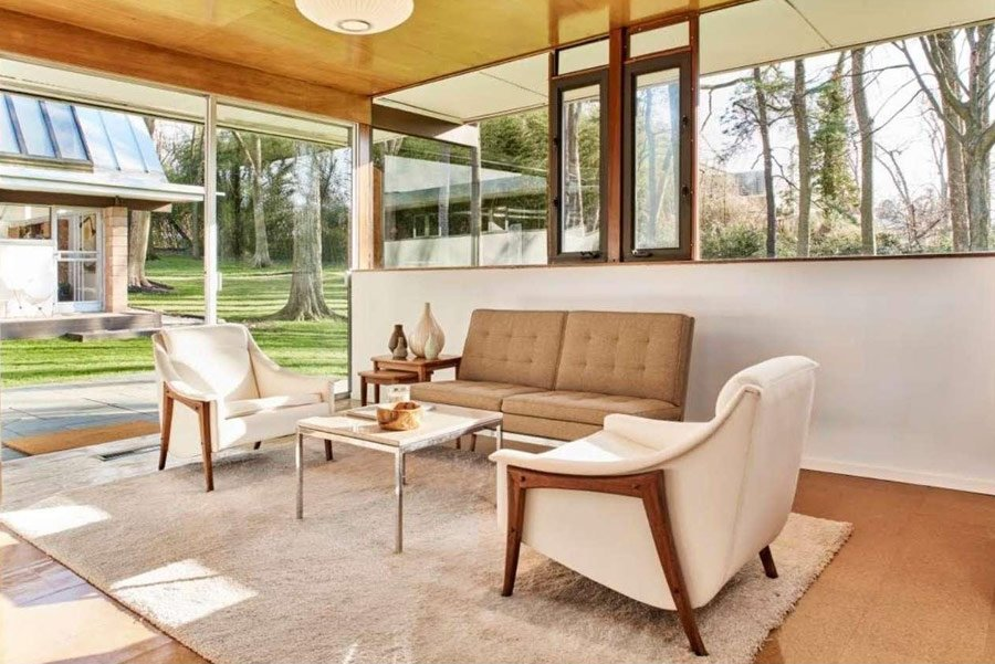 Richard Neutra House Philadelphia - living