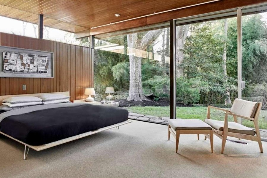 Richard Neutra House Philadelphia - bedroom
