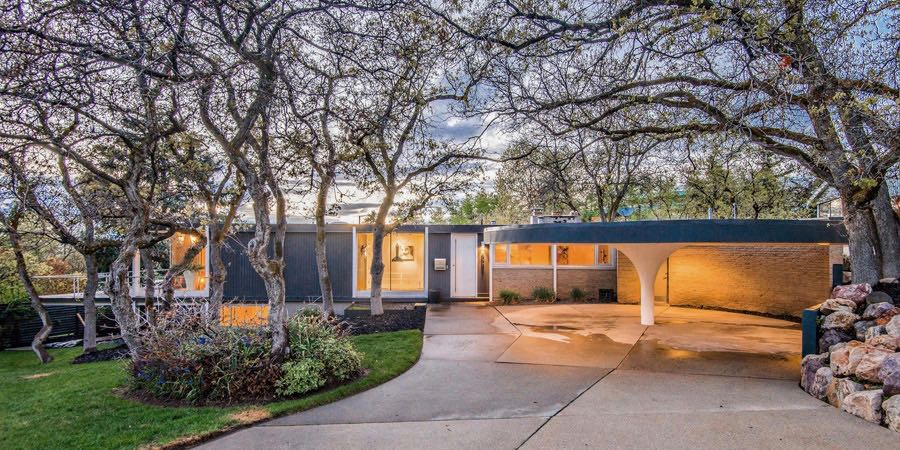Salt Lake mid-century house carport by Ed Dreier