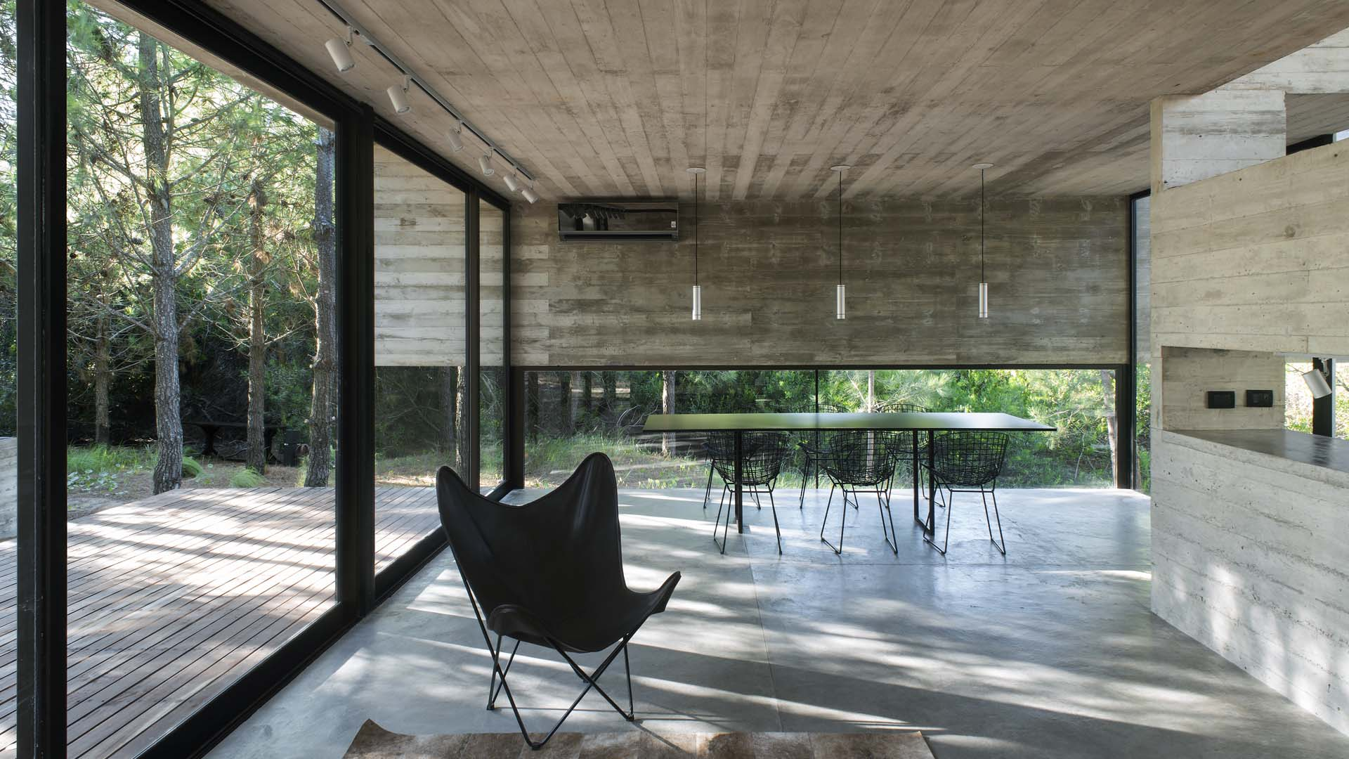 contemporary brutalist house in argentina - Luciano Kruk - living