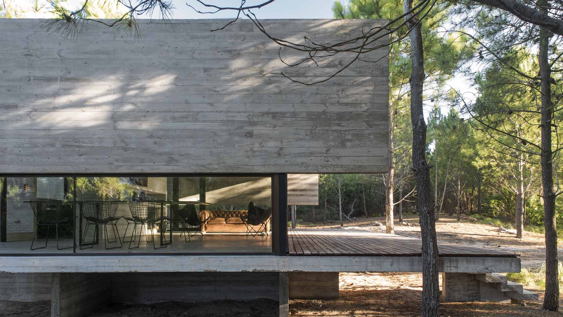 contemporary brutalist house in argentina - Luciano Kruk - outside