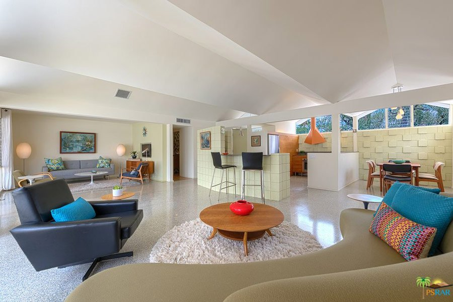 Barry Berkus mid-century house Palm Springs - living