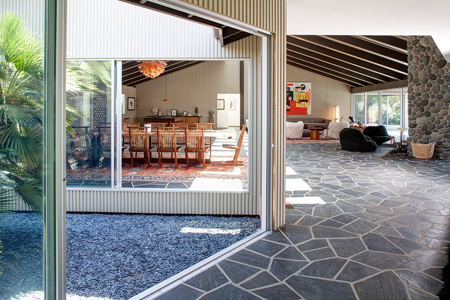 mid-century inspired Benedict Canyon house - dining room