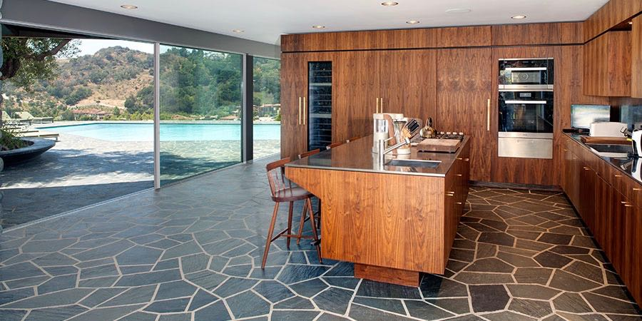 mid-century inspired Benedict Canyon house - kitchen