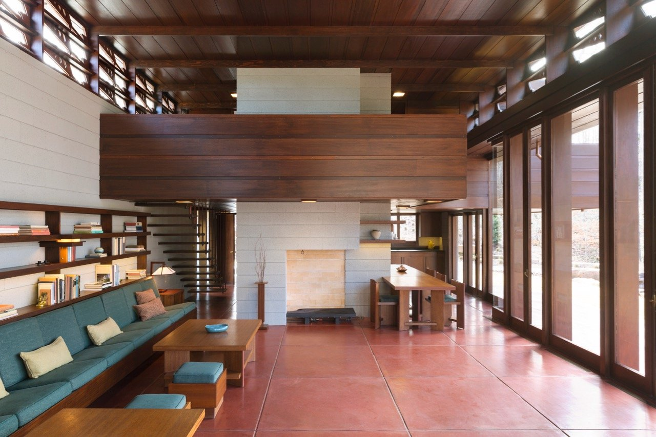 Frank Lloyd Wright - Bachman-Wilson House - living room
