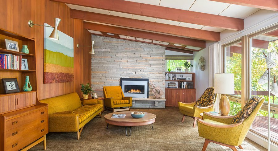Don Davies mid-century Ranch Renovation - living