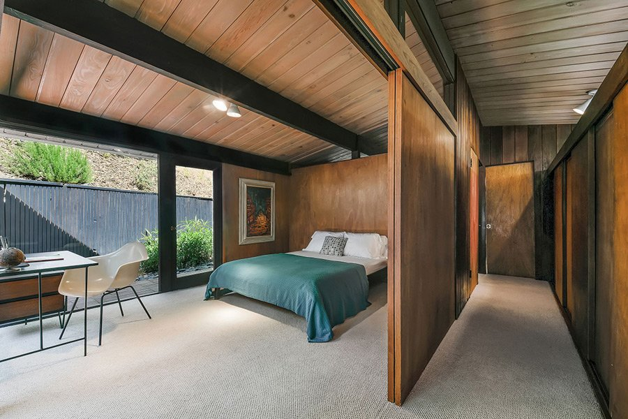 Mid Century Home in California by Roger Lee - bedroom