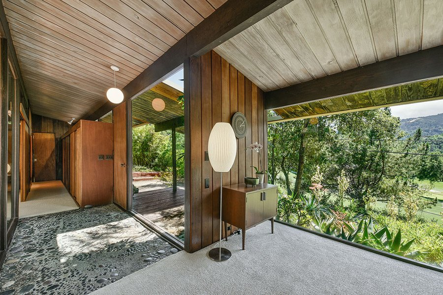 Mid Century Home in California by Roger Lee - entrance
