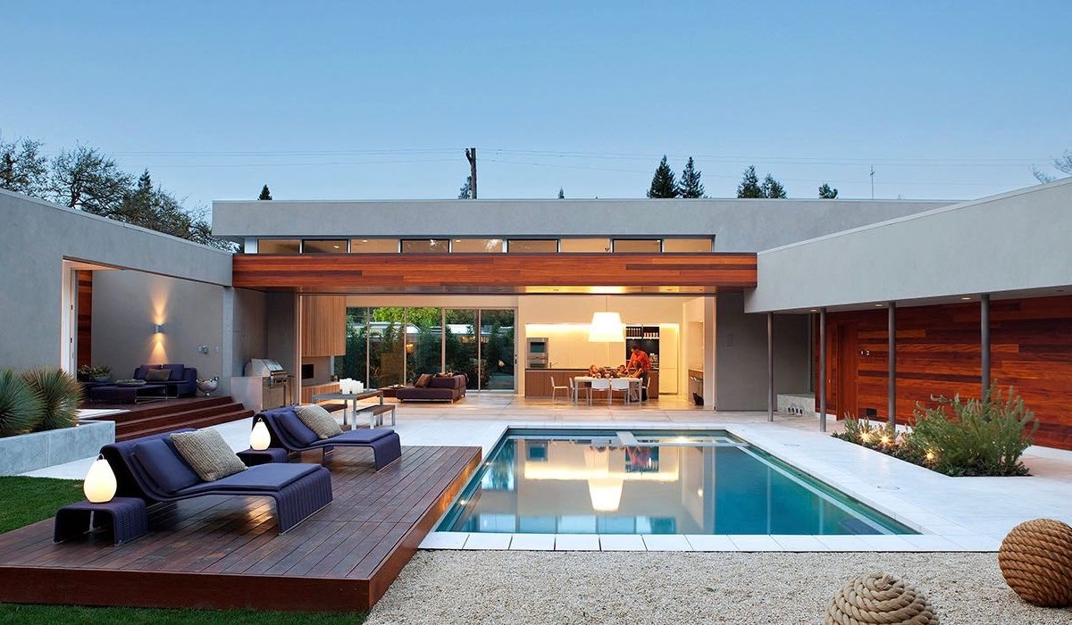 Modernist House In Menlo Park - pool