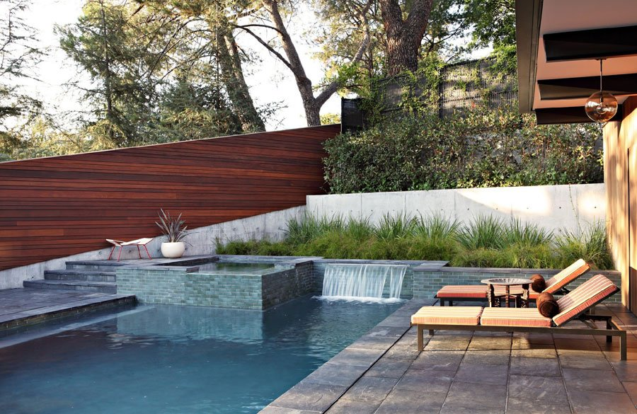 La Canada Flintridge mid-century house - pool