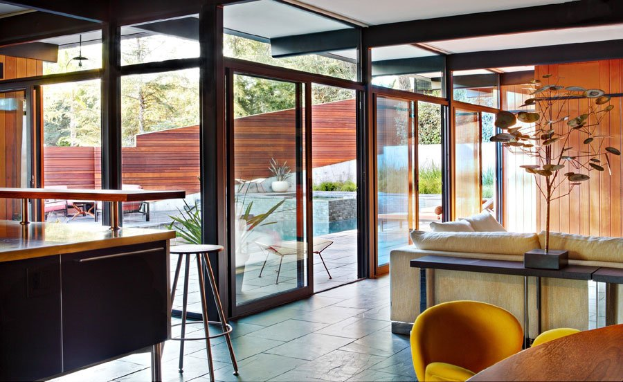 MId-Century House in La Canada, Has Beautiful Redwood Panelling ...