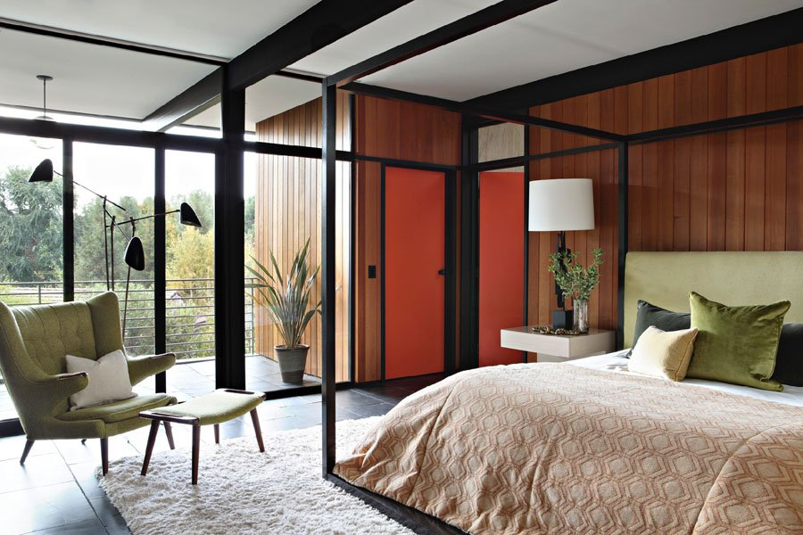 La Canada Flintridge mid-century house - bedroom