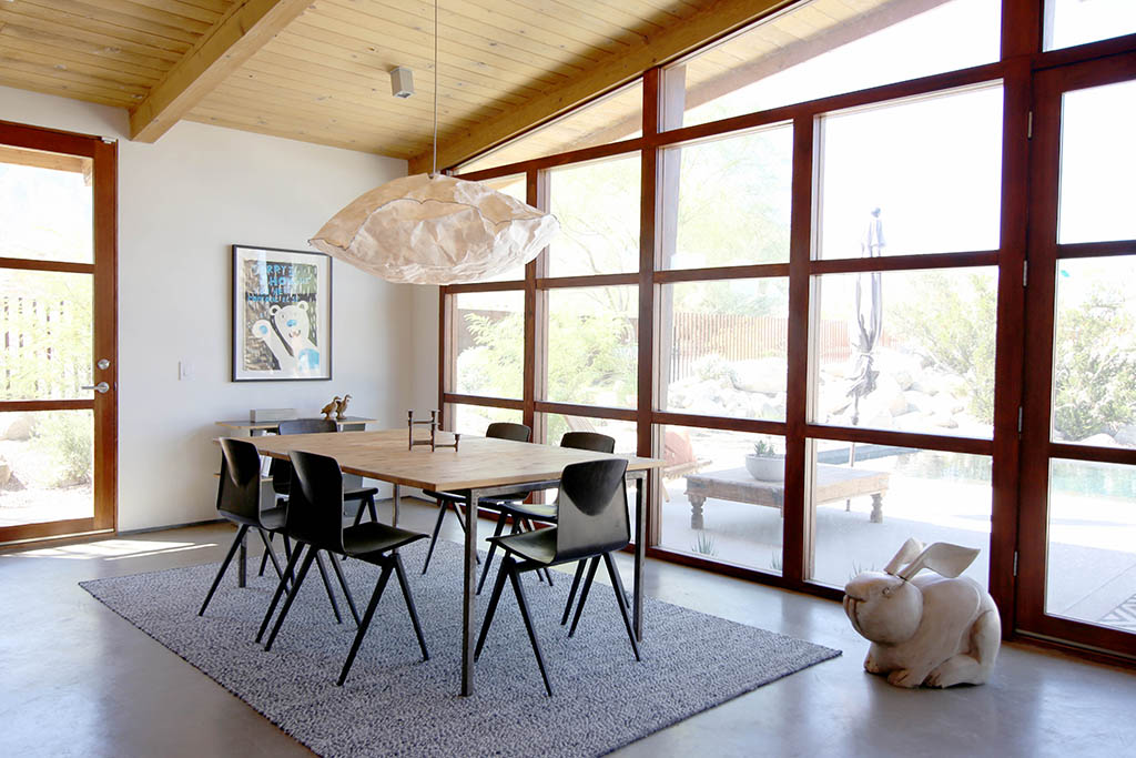 cliff may ranch style mid-century in palm springs - dining area