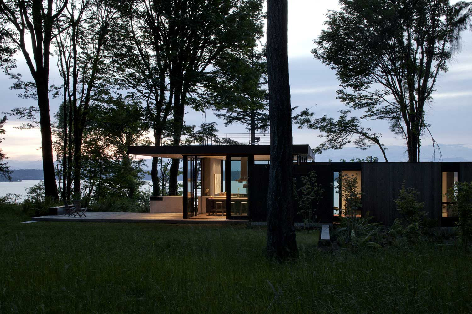 contemporary house - mwworks - Case Inlet Retreat - outside
