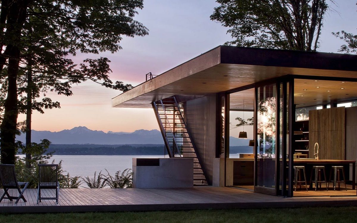 contemporary house - mwworks - Case Inlet Retreat