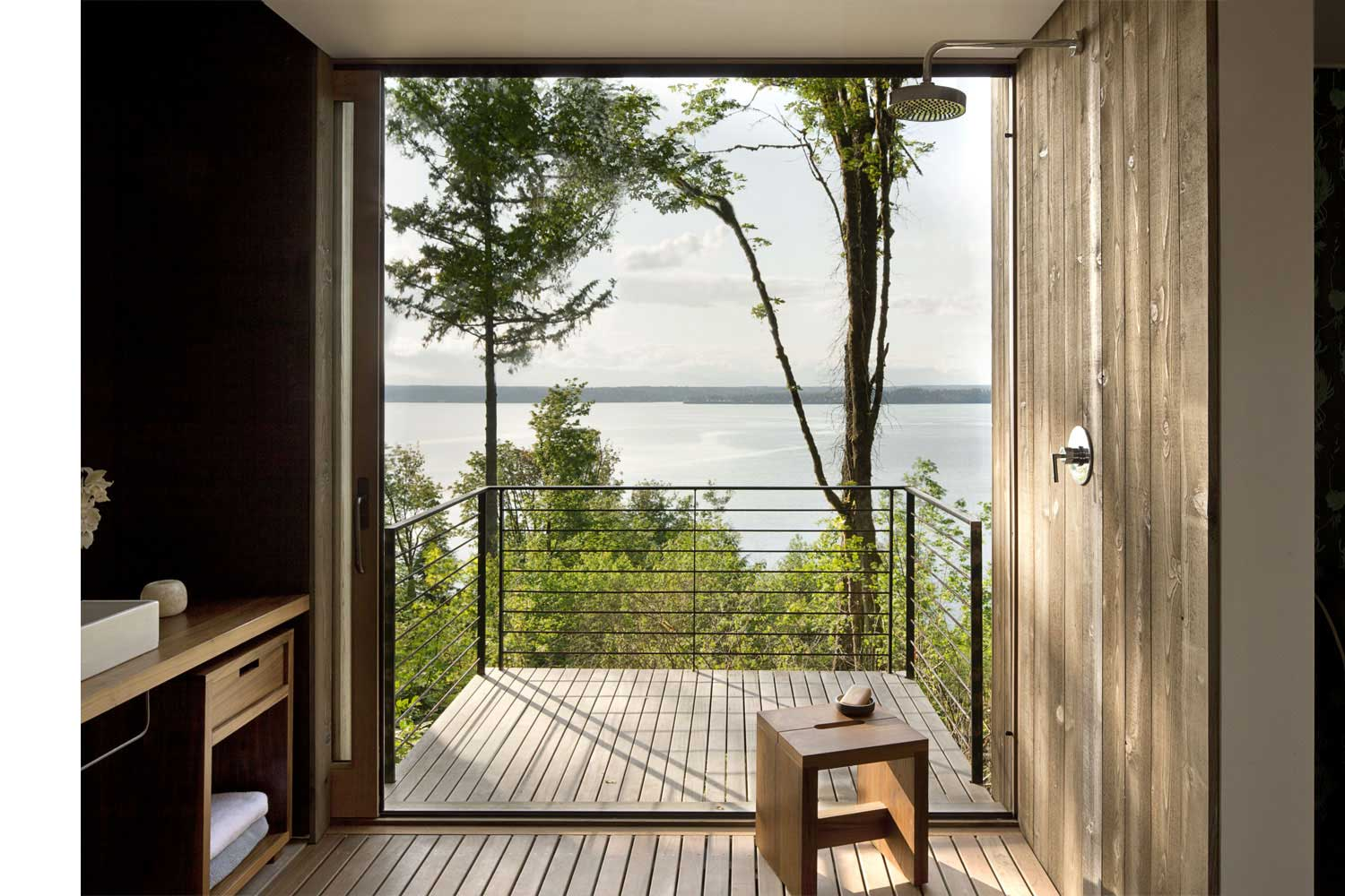 contemporary house - mwworks - Case Inlet Retreat - terrace