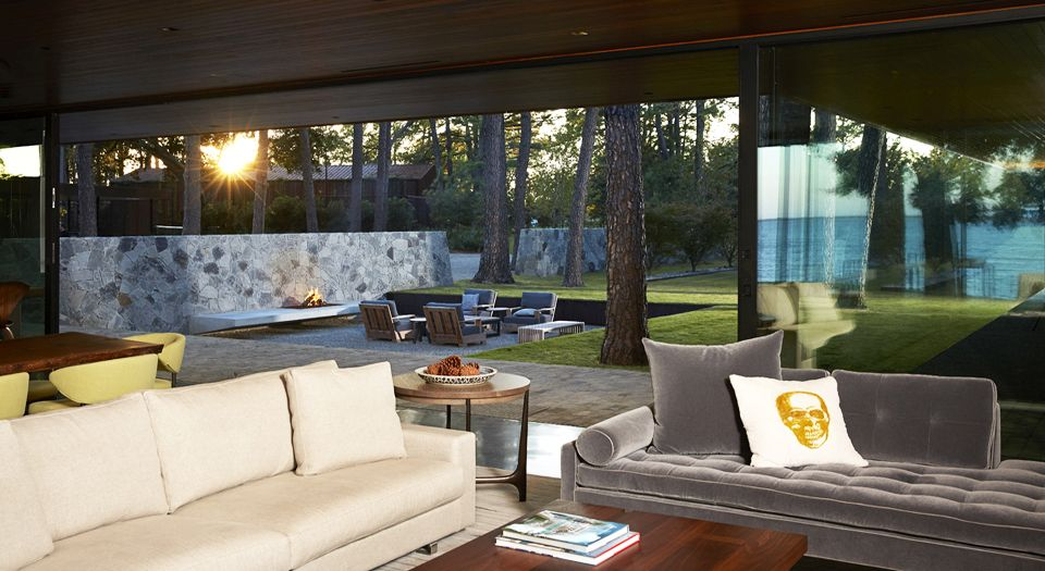 modern house - Wernerfield architects - texas - living