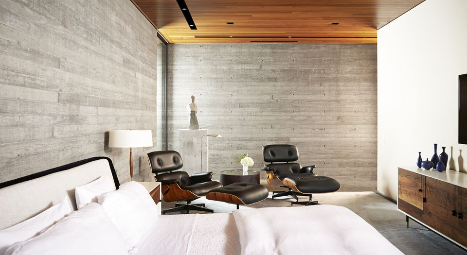 modern house - Wernerfield architects - texas - bedroom