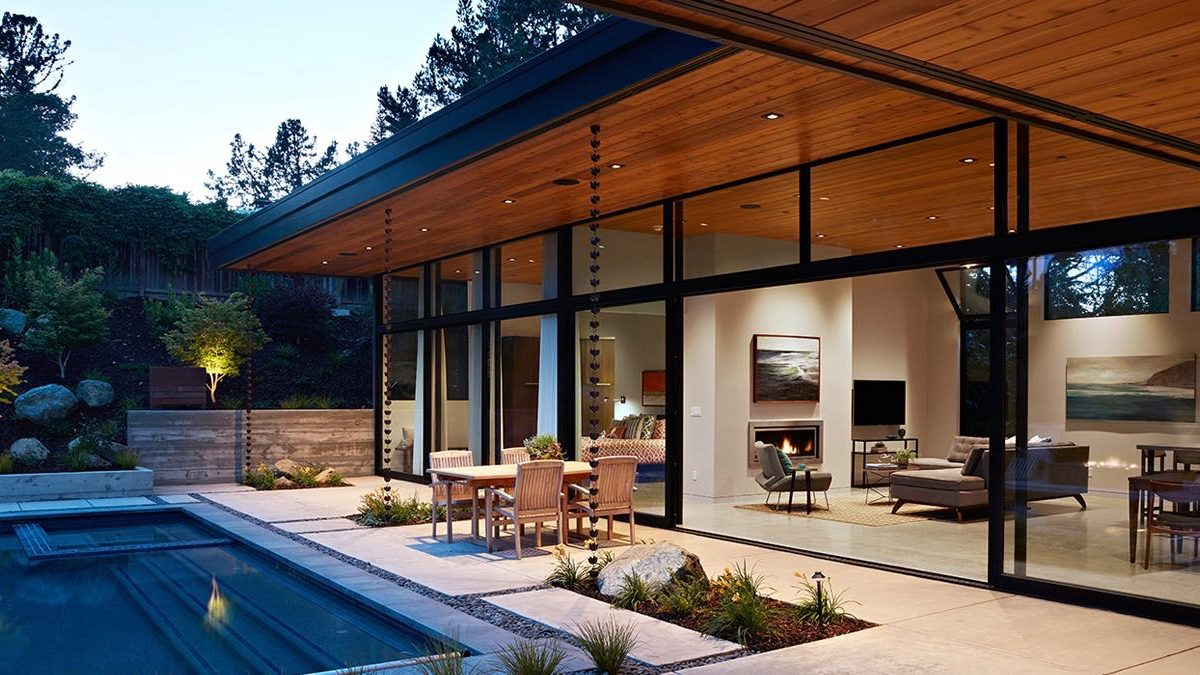 Klopf Architecture - Glass Wall House - pool