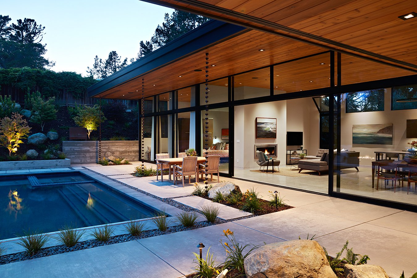 Klopf - Glass Wall House - San Mateo, CA - pool