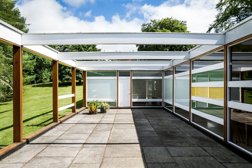 Peter Womersley's High Sunderland house - carport