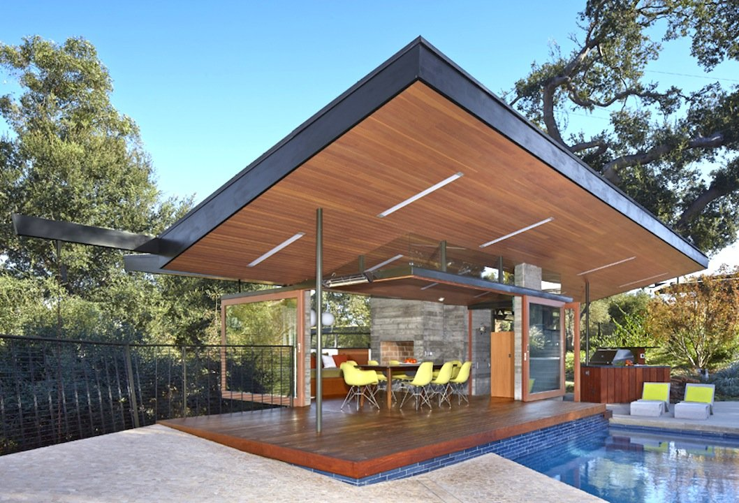 Blodgett-Calvin Pool House - front - dining