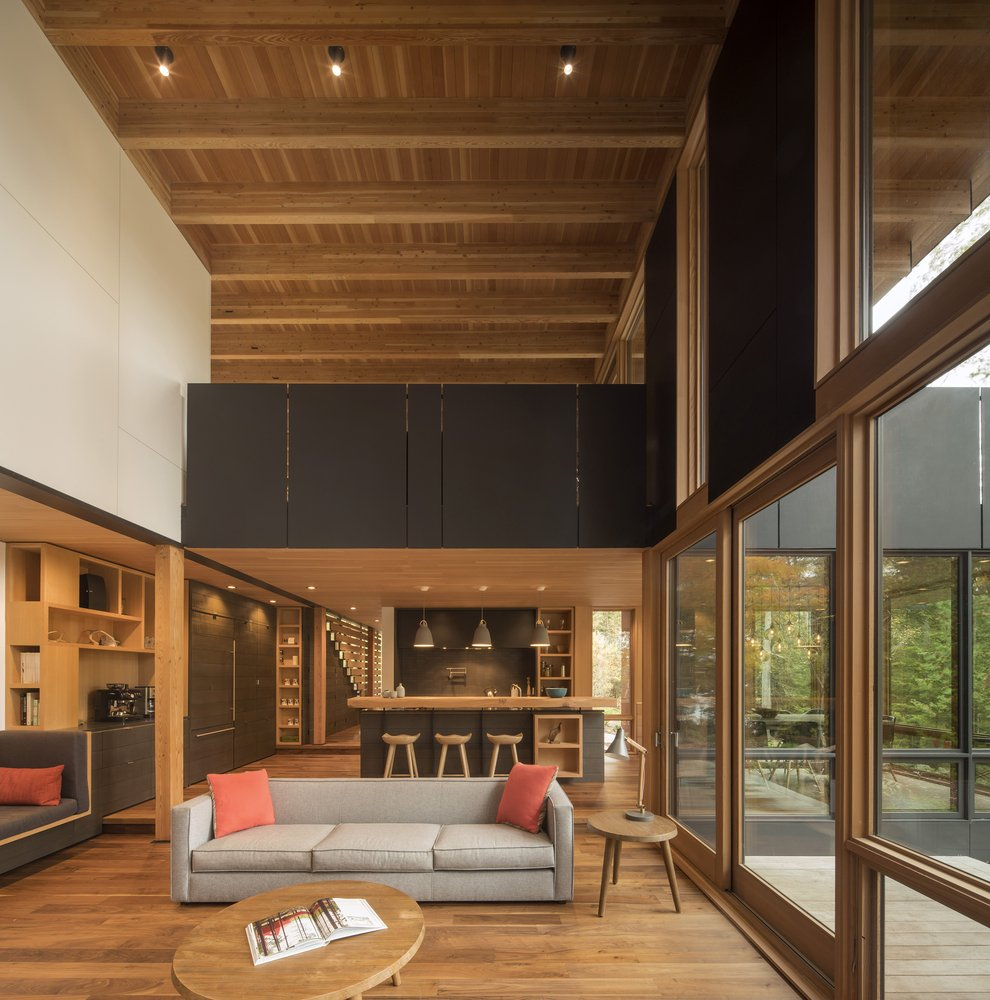 Modern house The Bear - Bohlin Grauman Miller and Bohlin Cywinski Jackson - living room
