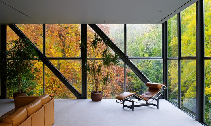 modernist residence - scott tallon walker architects - Goulding Summerhouse - living room