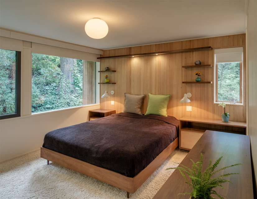Mid-century house renovation - moser architects - bedroom