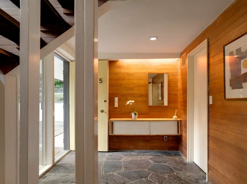 Mid-century house renovation - moser architects - hallway