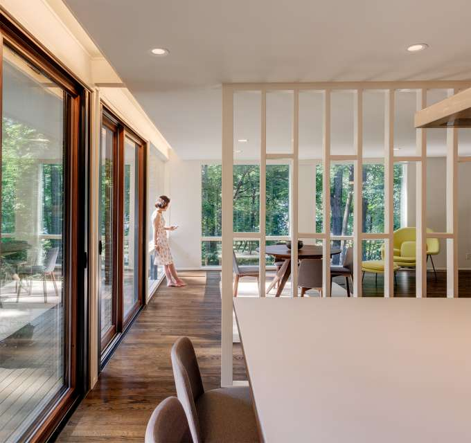 Mid-century house renovation - moser architects - dining area