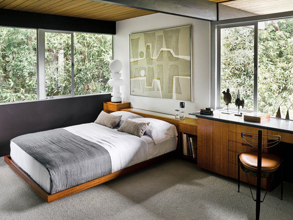 Richard Neutra Hailey Residence - mid-century house - bedroom