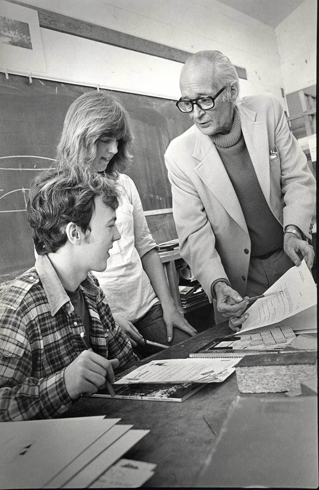 Architect William A. Whifler with students