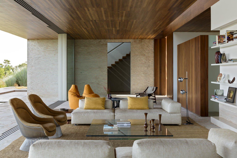 Contemporary Casa MS - Studio Arthur Casas - living room